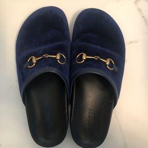 Gucci slides cobalt